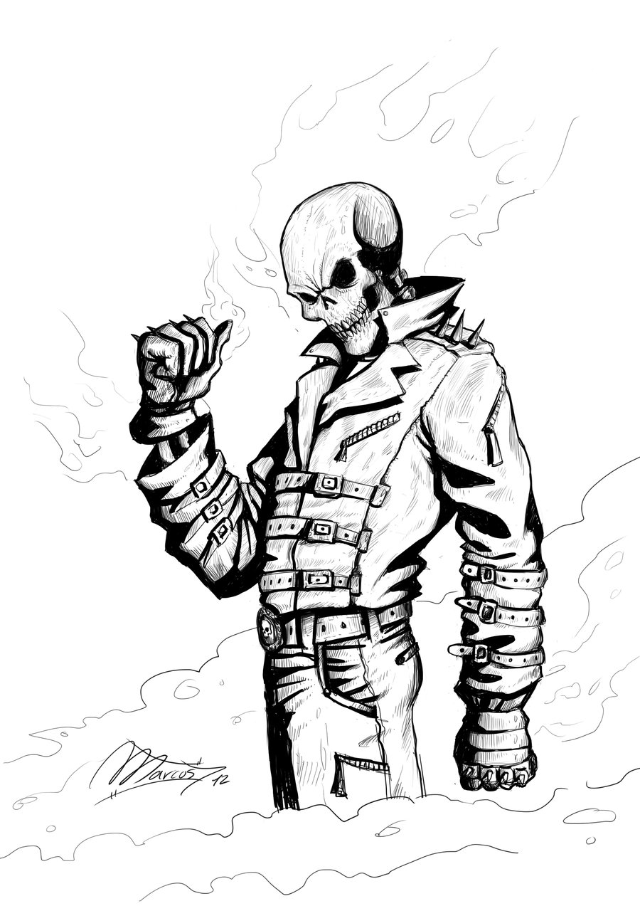 900x1273 Ghost Rider Ink By Magmarc