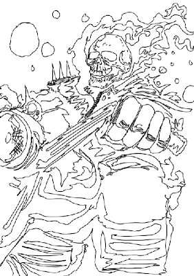 282x400 Mike Kevan Art Dump Wolverine And Ghost Rider Sketch