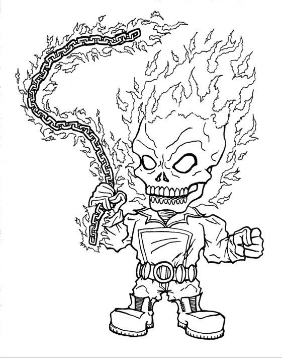 561x710 Mini Ghost Rider Inked By Infraggableszkiba