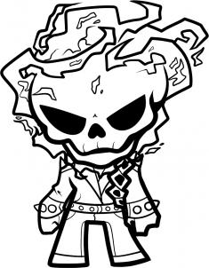 235x302 How To Draw Chibi Ghost Rider Step 9 Terminator