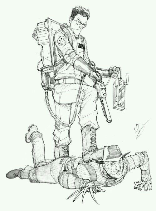 Ghostbusters Drawing