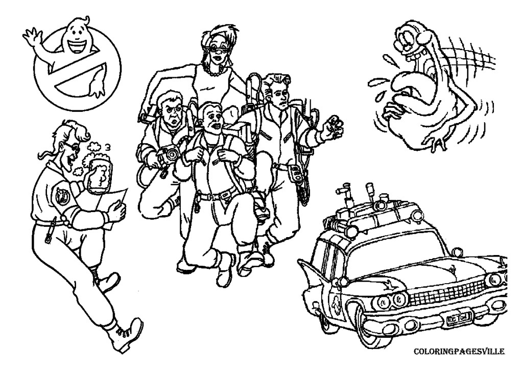1024x724 Ghostbusters Coloring Pages Bebo Pandco