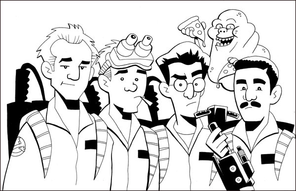 600x388 Ghostbusters Coloring Pages