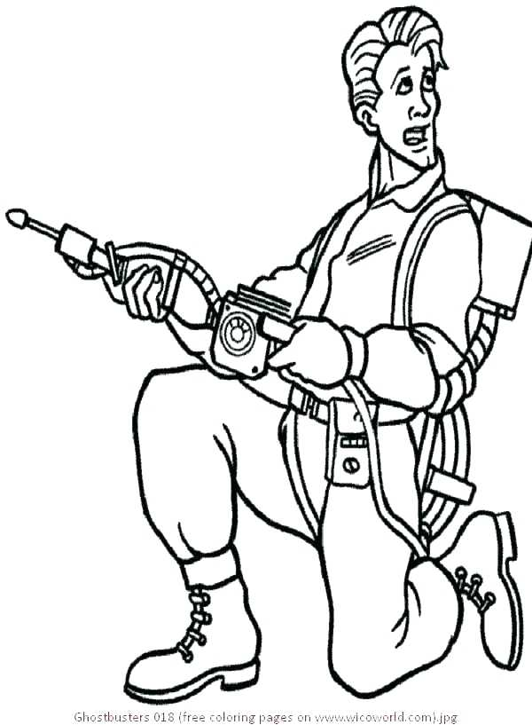 600x817 Ghostbuster Coloring Pages