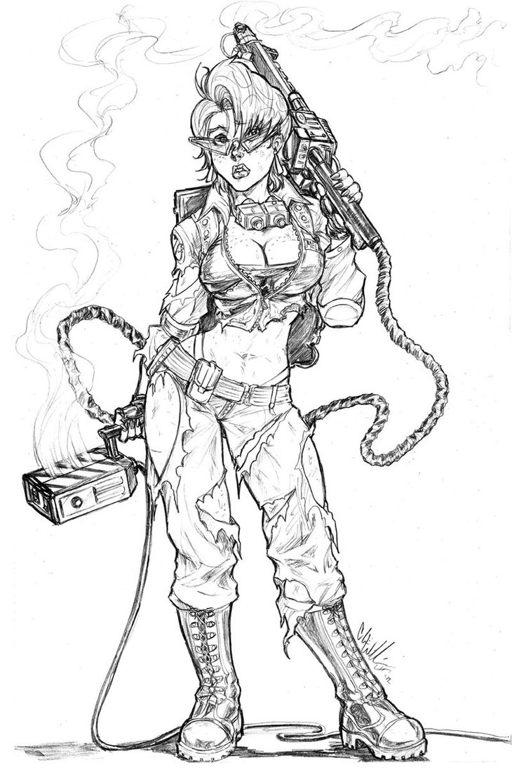 730x1094 Ghostbusters Janine Commish 3 By Cdubbart