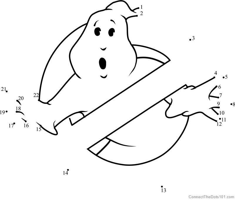 800x686 Ghostbusters Logo Dot To Dot Printable Worksheet