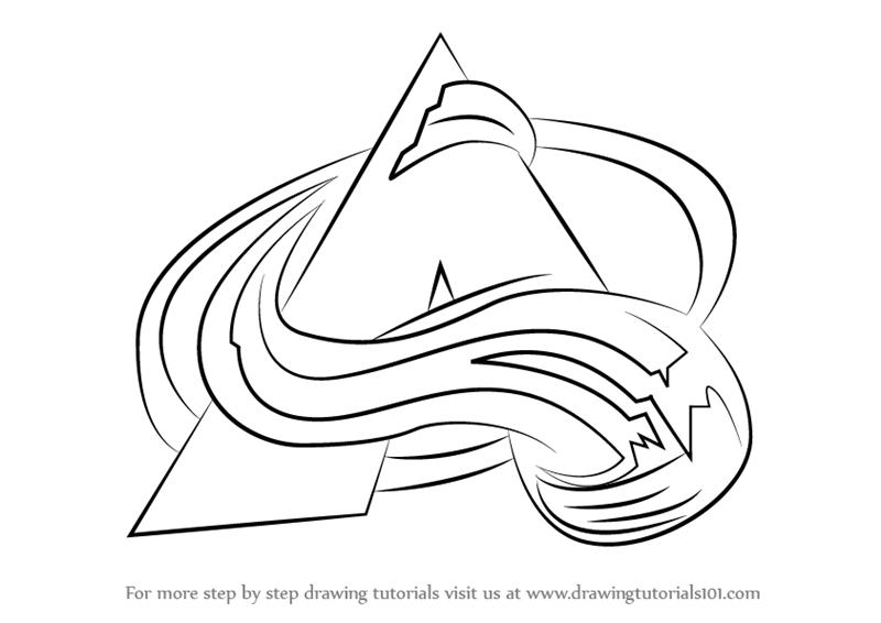 800x566 Step By Step How To Draw Colorado Avalanche Logo
