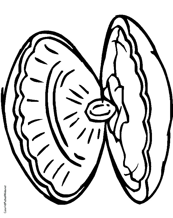 600x756 Oyster Clam Coloring Pages Lobster Coloring Page