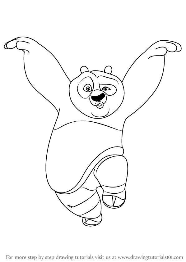 598x844 Learn How To Draw Po Giant Panda From Kung Fu Panda (Kung Fu Panda