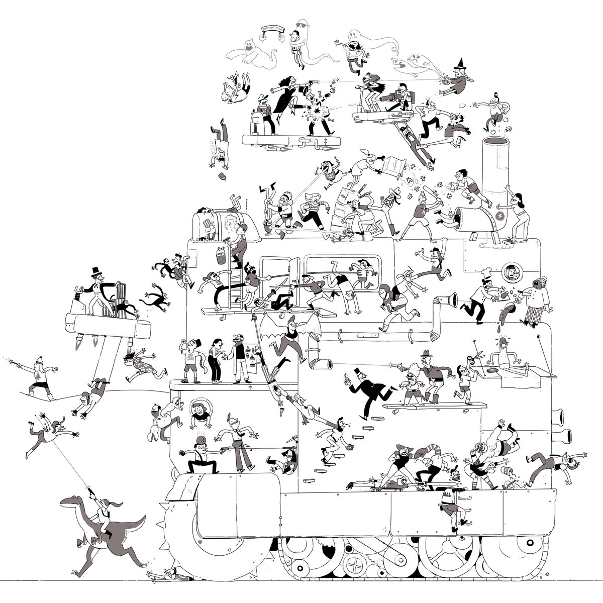 1200x1200 Artist Adds One Character To A Giant Drawing Every Day Booooooom