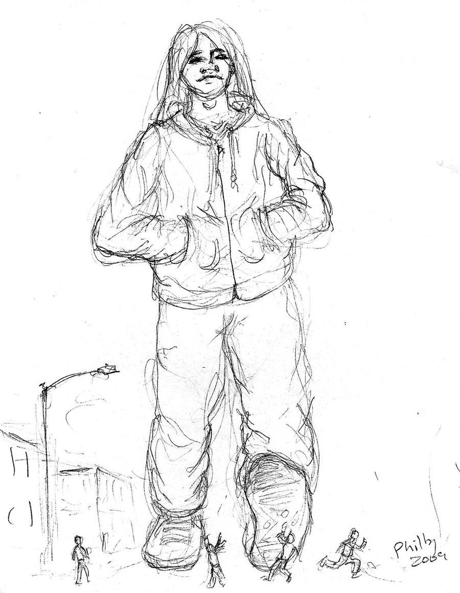 900x1160 Careless Walker Pencil Sketch By Gianttoby