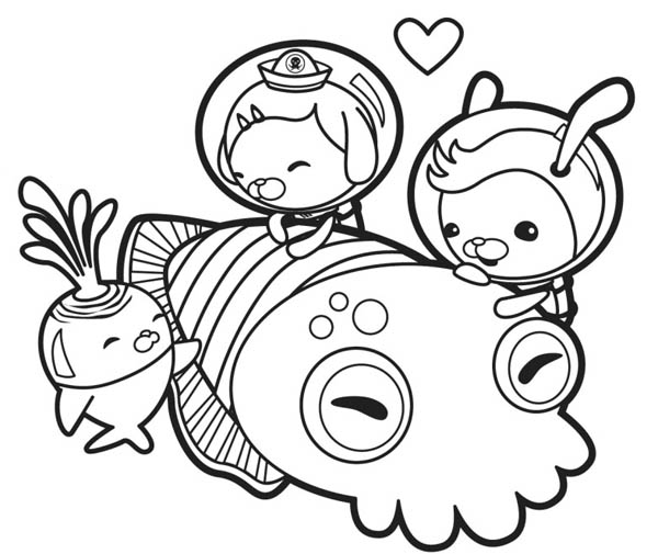 600x505 The Octonauts Meet Giant Squid Coloring Page