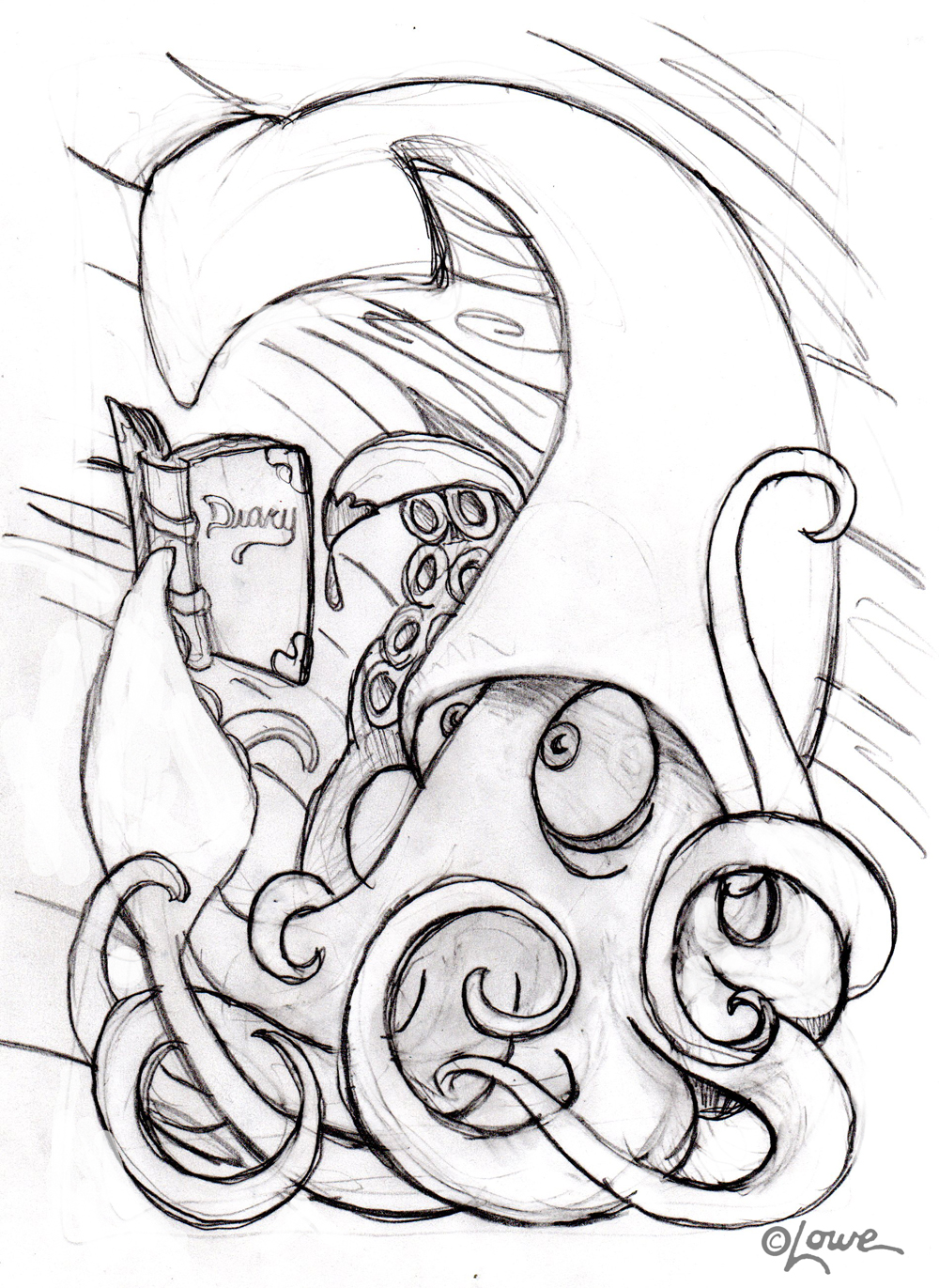 1000x1371 Dave Lowe Design The Blog Eddie Izzard's Giant Squid