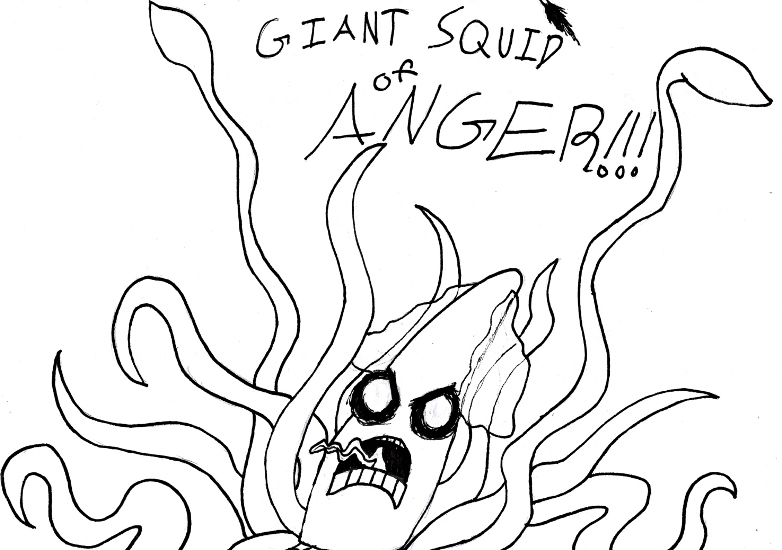 782x550 Giant Squid Of Anger By Coahtemoc