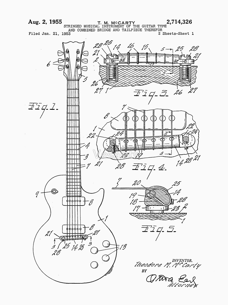 Gibson Le Paul Diagram