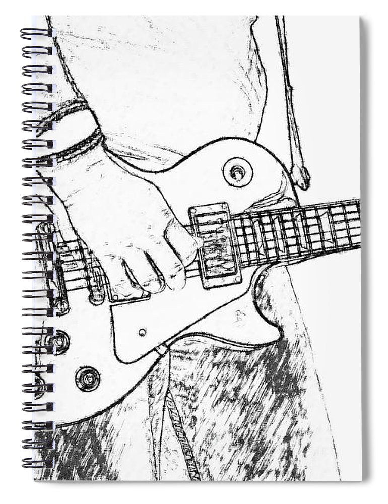 770x1000 Gibson Les Paul Guitar Sketch Spiral Notebook For Sale By Randy Steele