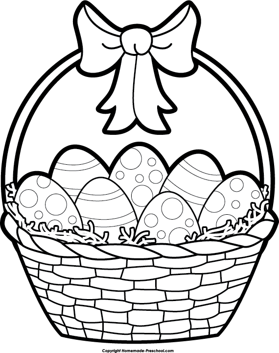 Gift basket drawing at getdrawings free for personal use gift 570x720 easter basket clipart black and white happy easter pinterest negle Image collections