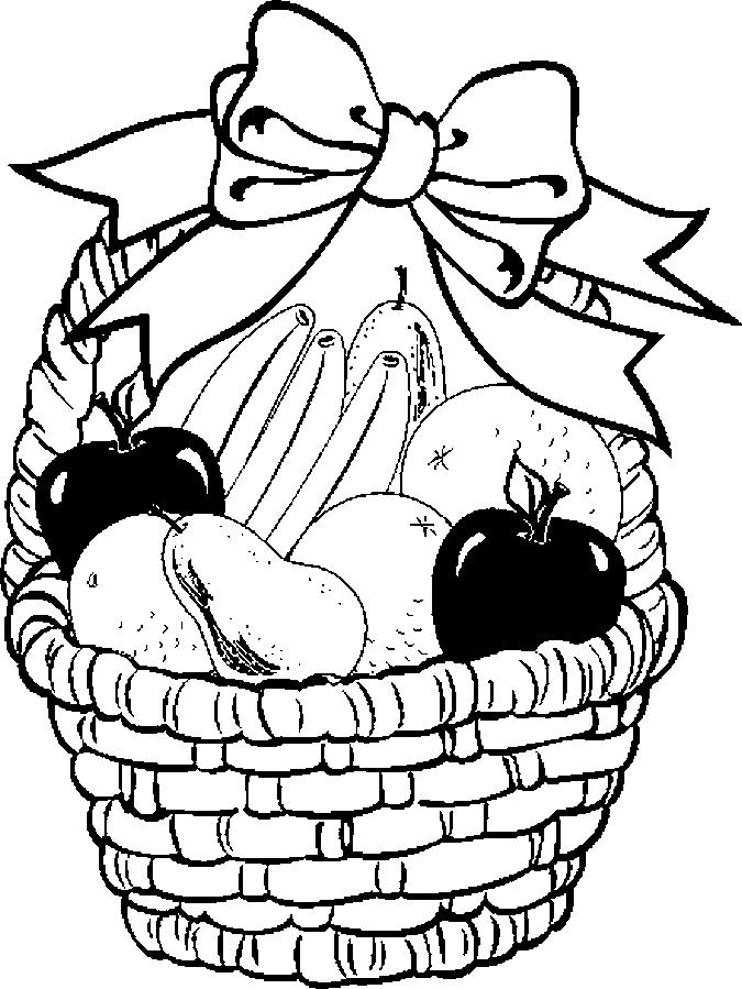 675x899 Fruit Basket Coloring Pages 1 Pinterest