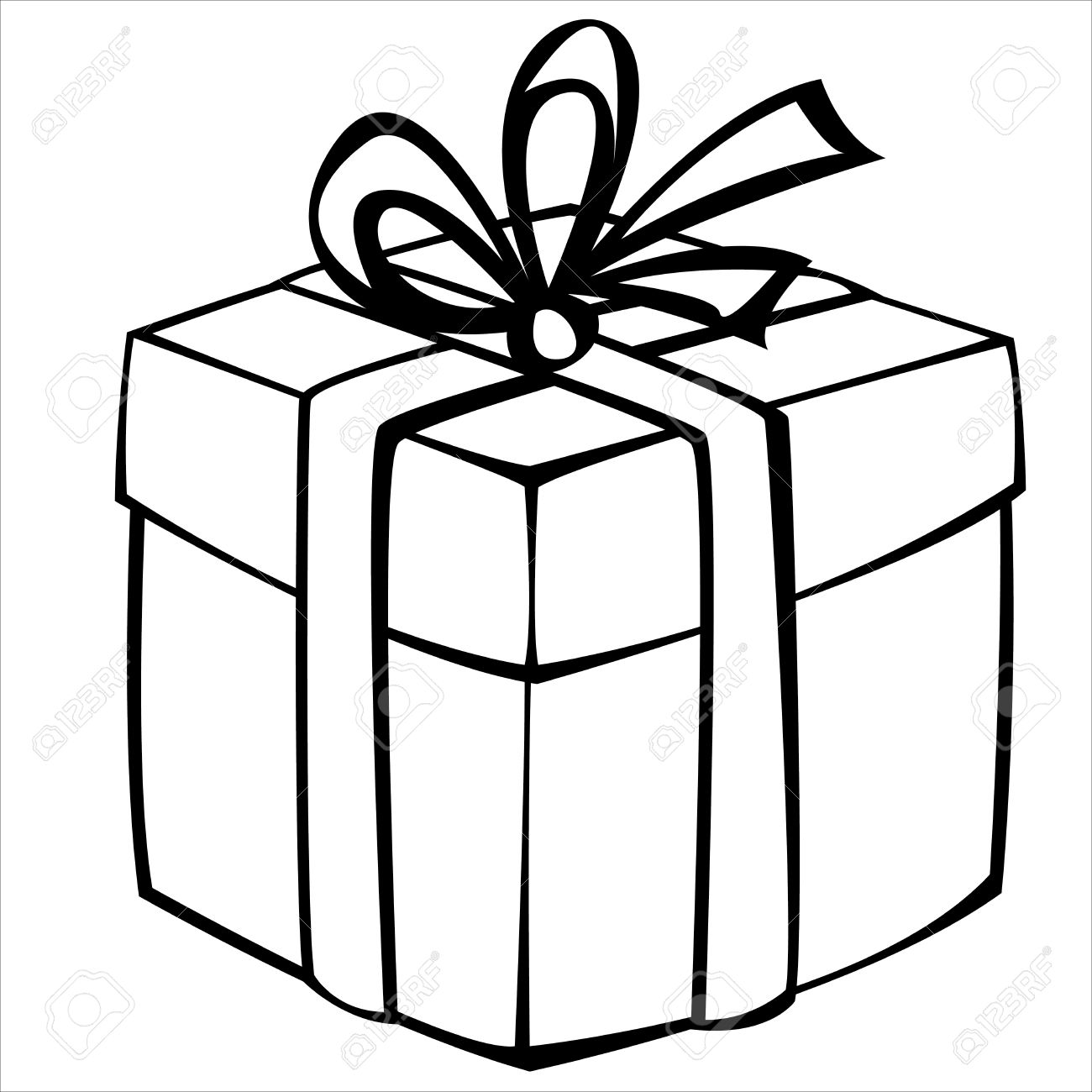 Gift Box Drawing at GetDrawings.com | Free for personal use Gift Box ... for Birthday Gift Clipart Black And White  17lplyp