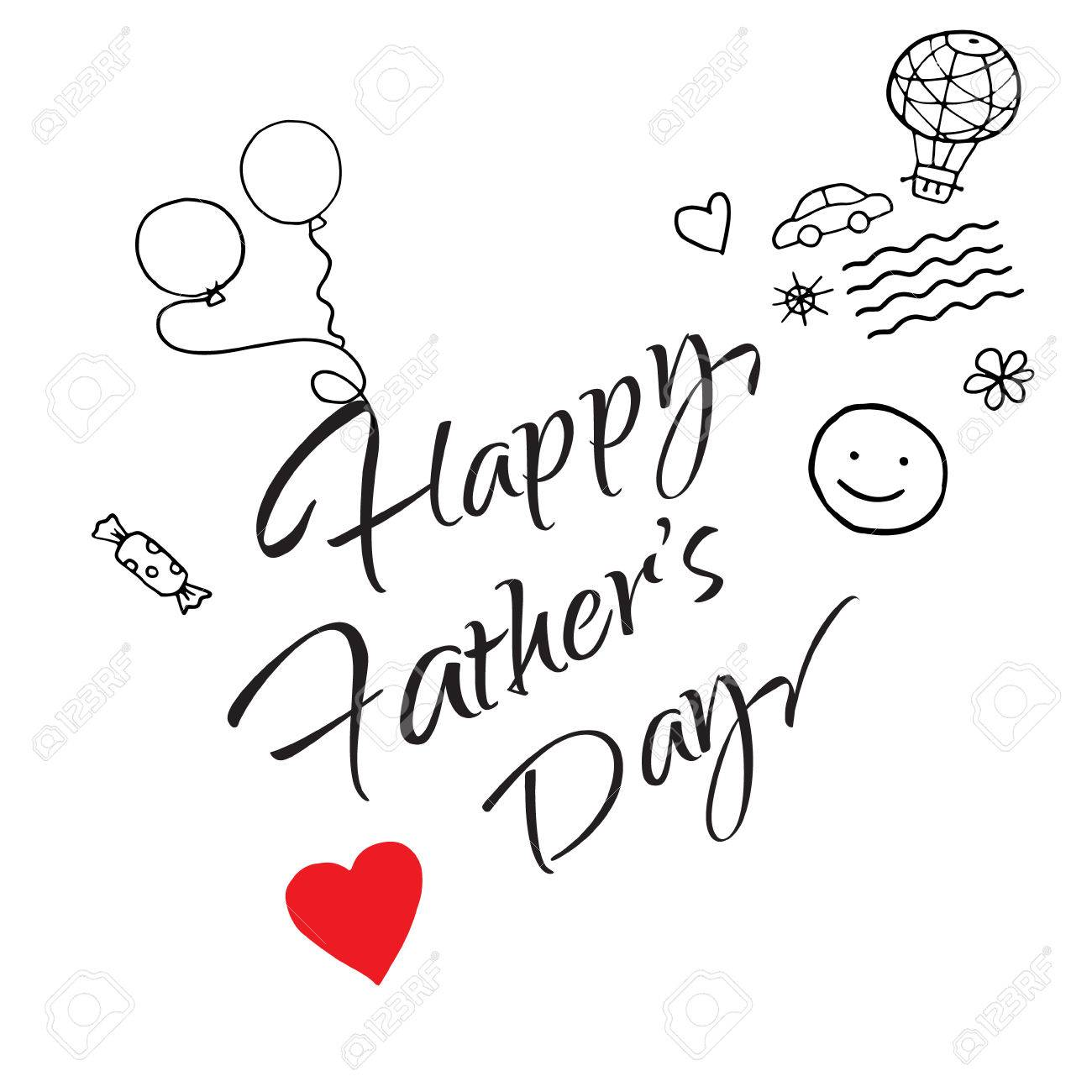 1300x1300 Happy Father's Day Gift Card Vector Template. Lettering
