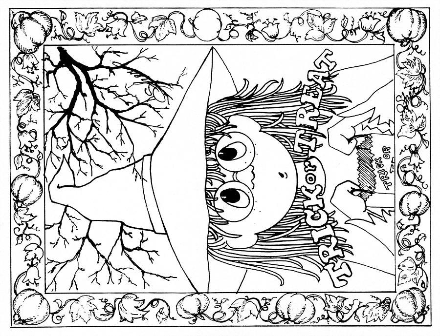 900x689 Art Mediums Halloween Me Card