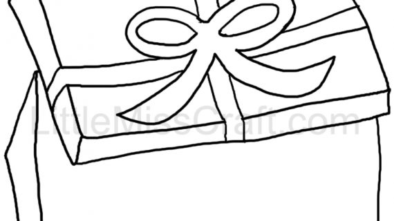 570x320 Christmas Gift Drawings Drawing A 3d Christmas Gift Levitating