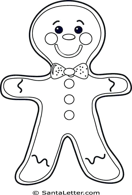 553x820 Gingerbread Man Coloriage Gingerbread Man Coloring Page Free