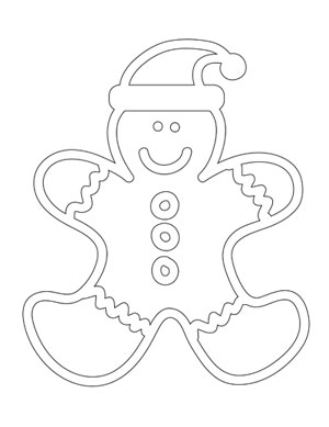 300x389 Gingerbread Man Coloring Sheet Printable