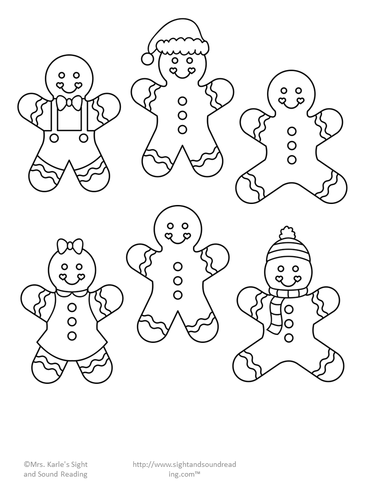 720x960 Gingerbread Man Cutout Template