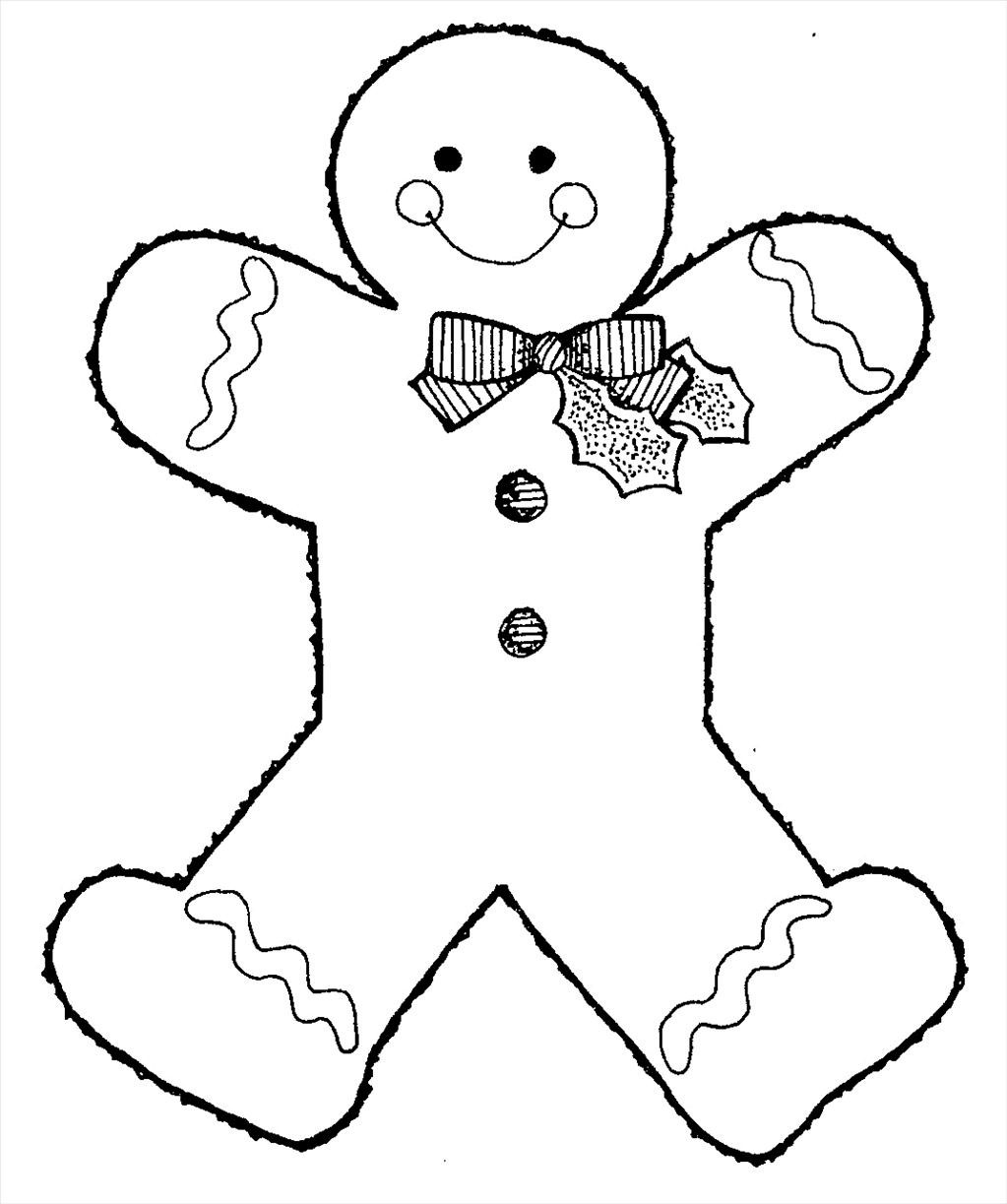 1023x1223 Ideal Gingerbread Man Coloring Page Picture Unknown Resolutions