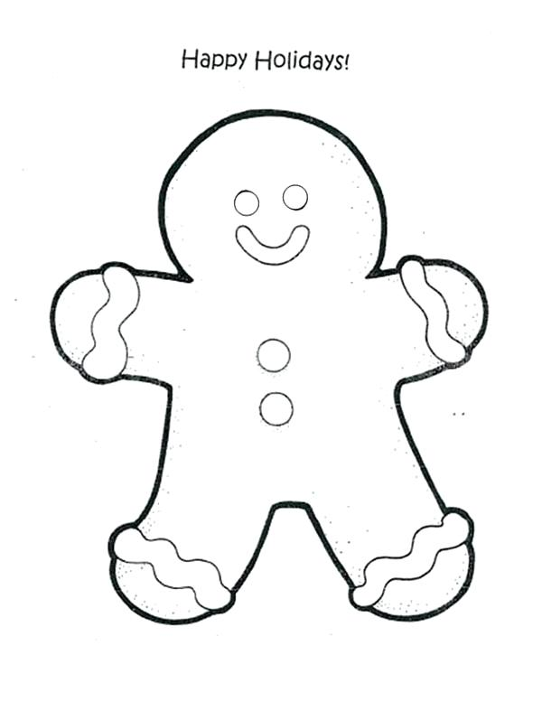 600x787 Picture Of Gingerbread Man To Color Joandco.co