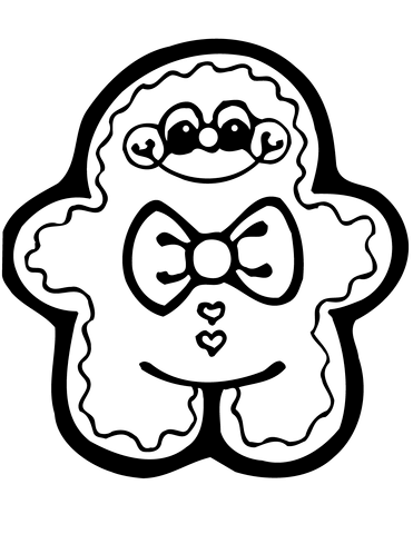 371x480 Cute Gingerbread Man Coloring Page Free Printable Coloring Pages