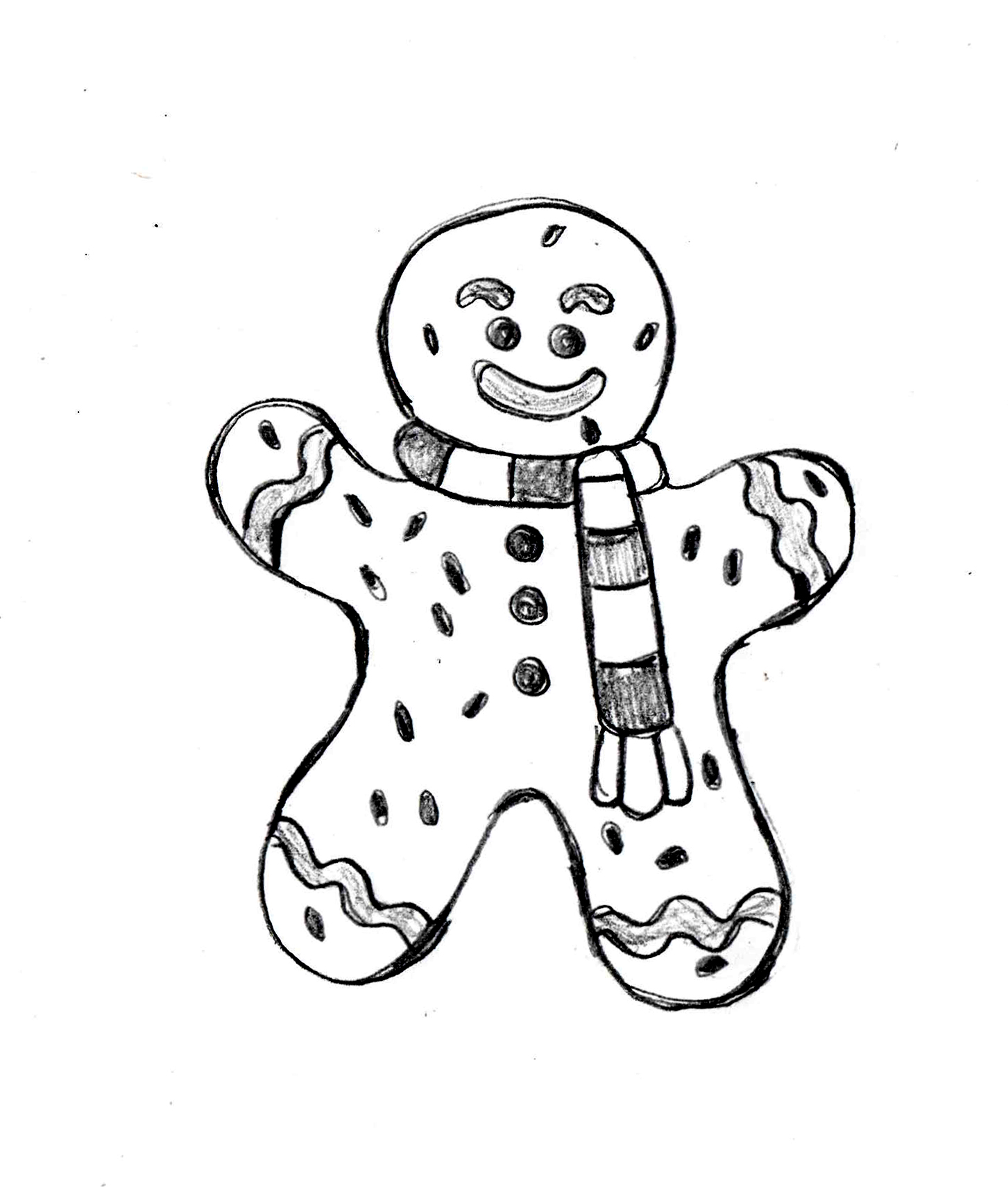 1453x1710 Ginger Breadman Httpit.lydrawingmanuals Drawing Club 2