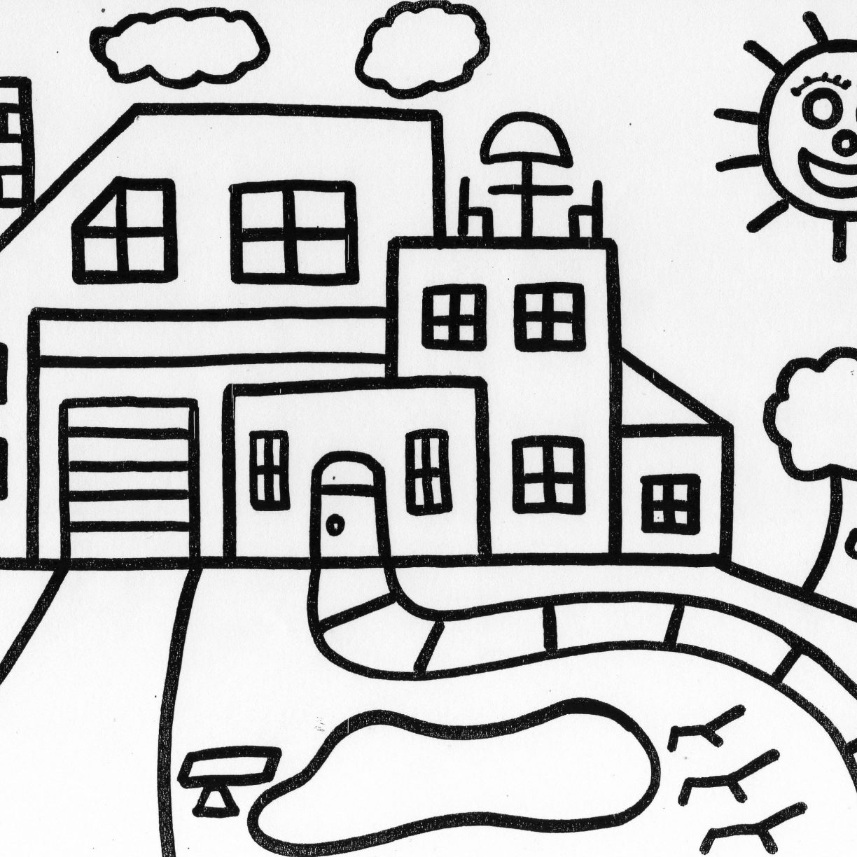 1224x1224 Gingerbread House Coloring Page Download Drawing Pages Printable