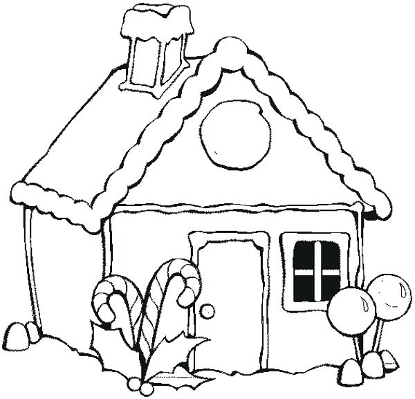 600x577 Gingerbread House Coloring Page Pdf Best Coloring Disney Book