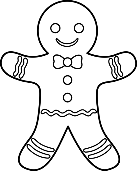 442x550 Gingerbread Man Lineart