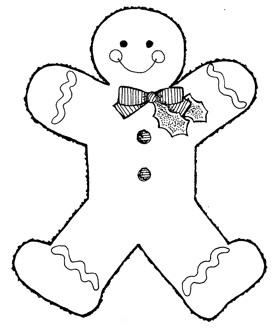 1072x1281 Gingerbread Man Black And White Clipart Kid 2