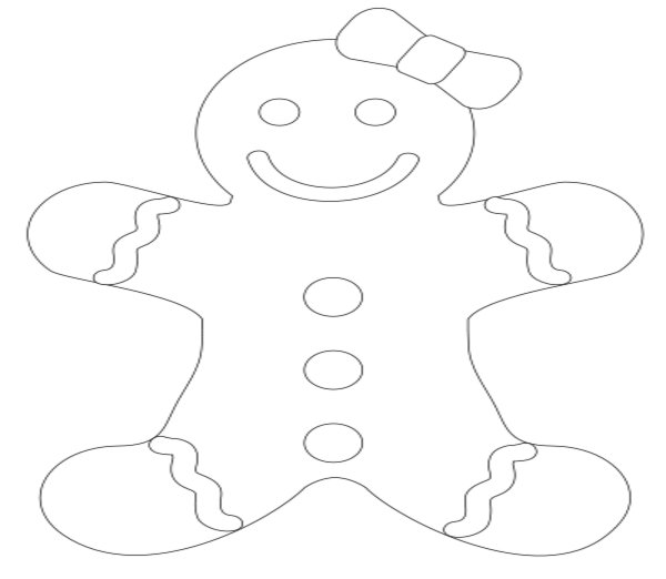 600x522 How To Draw A Gingerbread Girl