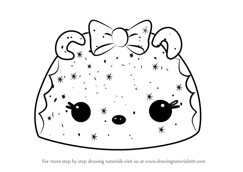 800x567 Learn How To Draw Gingerbread Go Go From Num Noms (Num Noms) Step