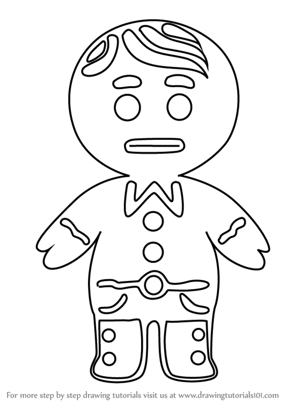 567x800 Learn How To Draw Gingerbread Boy From Little Charmers (Little