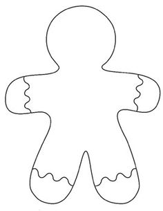 picture relating to Gingerbread Man Printable known as Gingerbread Drawing at  Totally free for unique