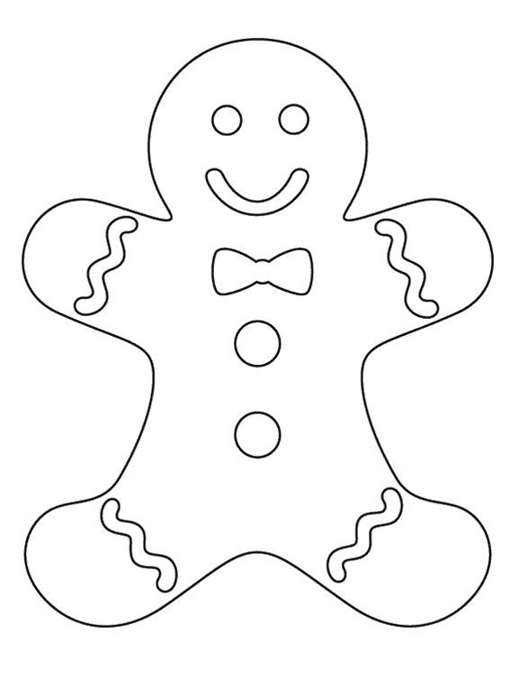 Gingerbread Drawing At GetDrawings