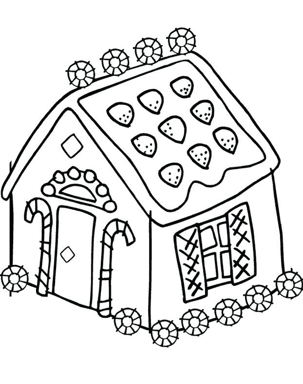 622x790 Free Gingerbread House Coloring Pages Free Online Gingerbread