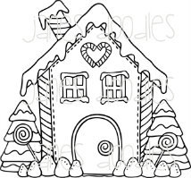 214x199 Gingerbread House