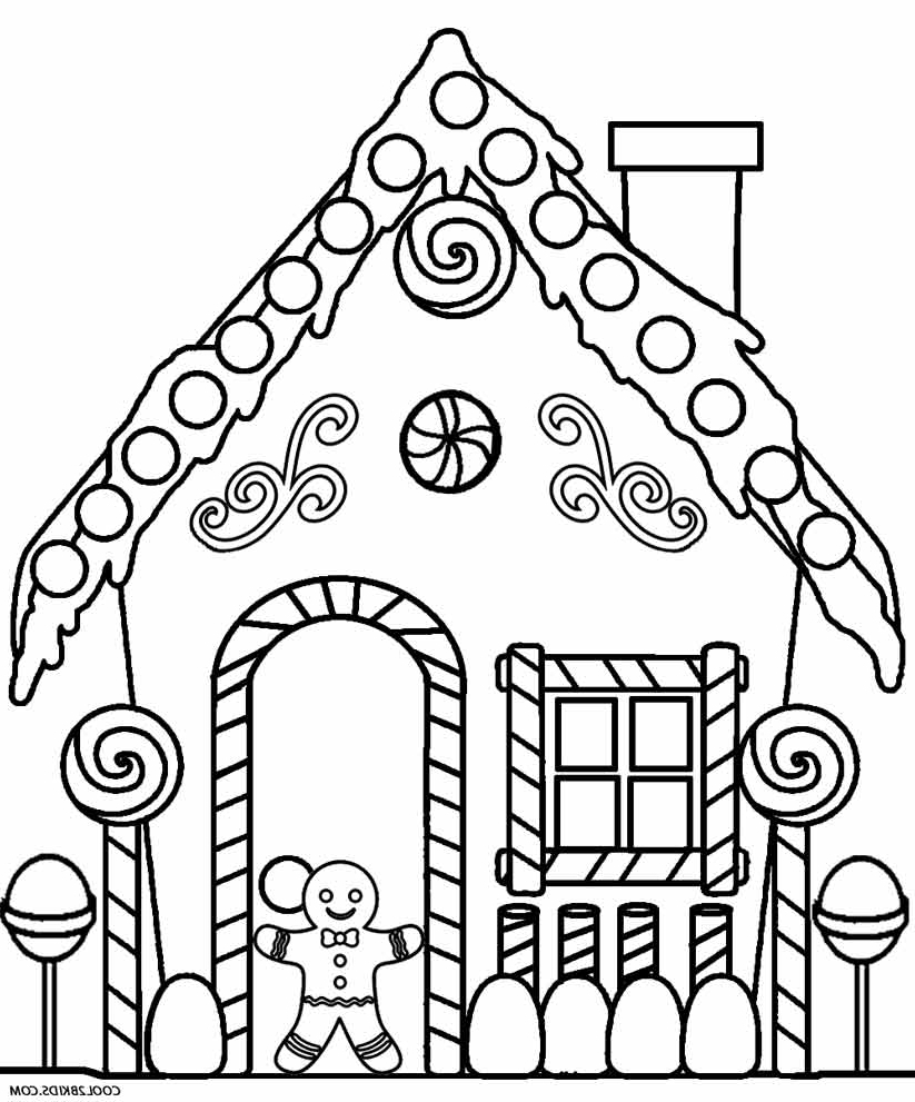 Gingerbread House Drawing at GetDrawings.com | Free for personal use ...