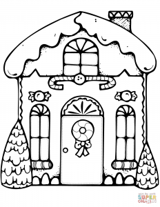 232x300 Tooned Cartoon House Coloring Page Drawing Pages Printable Adult