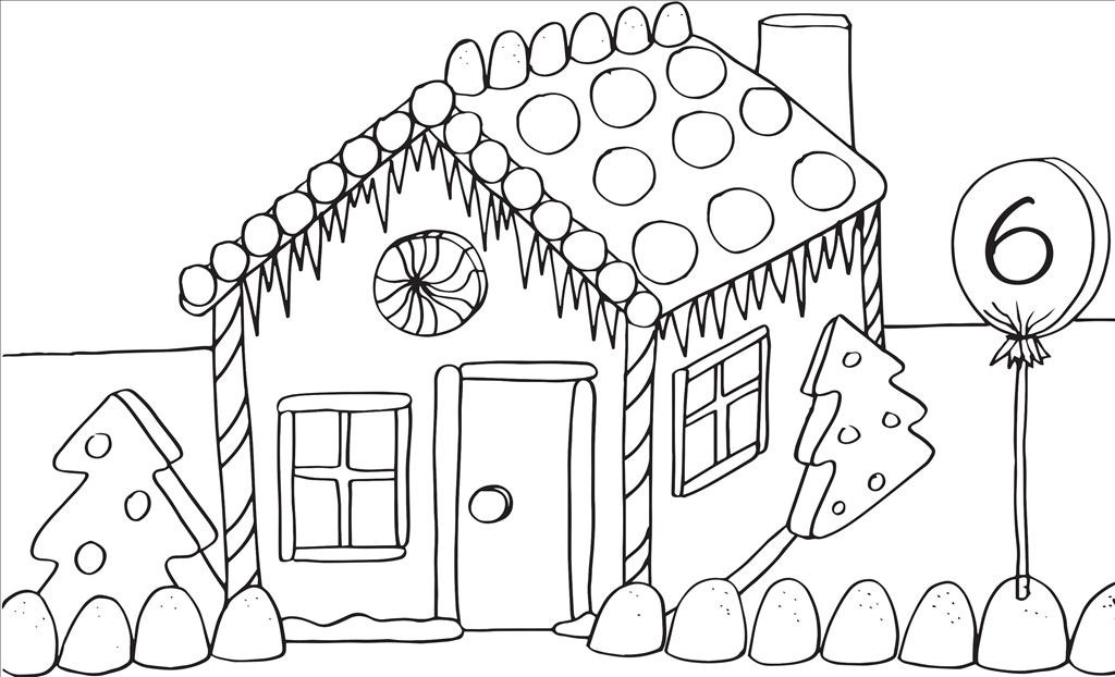 1024x622 Top Gingerbread House Coloring Page Imagine Unknown Resolutions