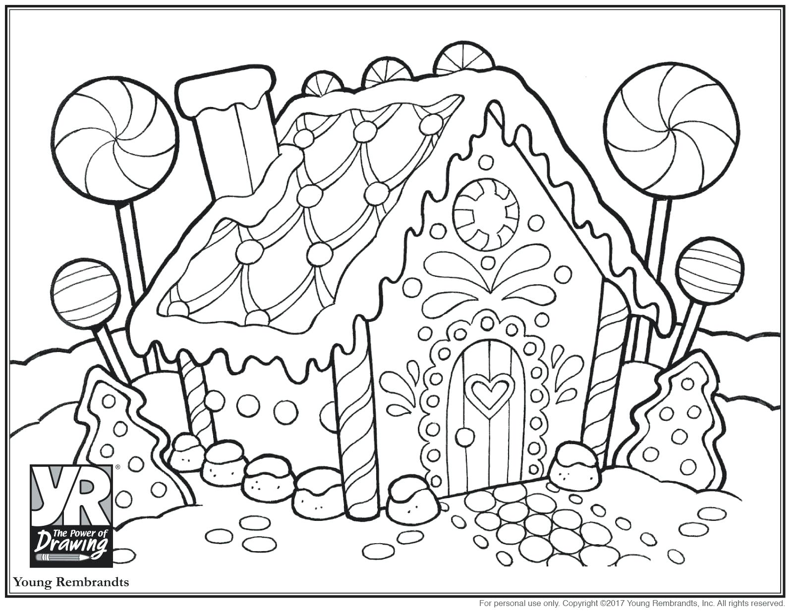 1610x1236 Coloring Coloring Pages Of Gingerbread Houses