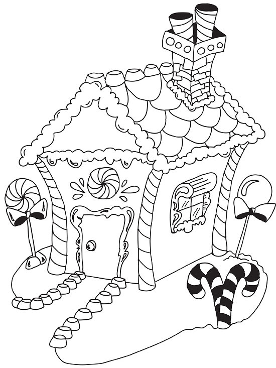 550x733 Free Holiday Coloring Pages Christmas 550 Cp Gingerbreadhouse