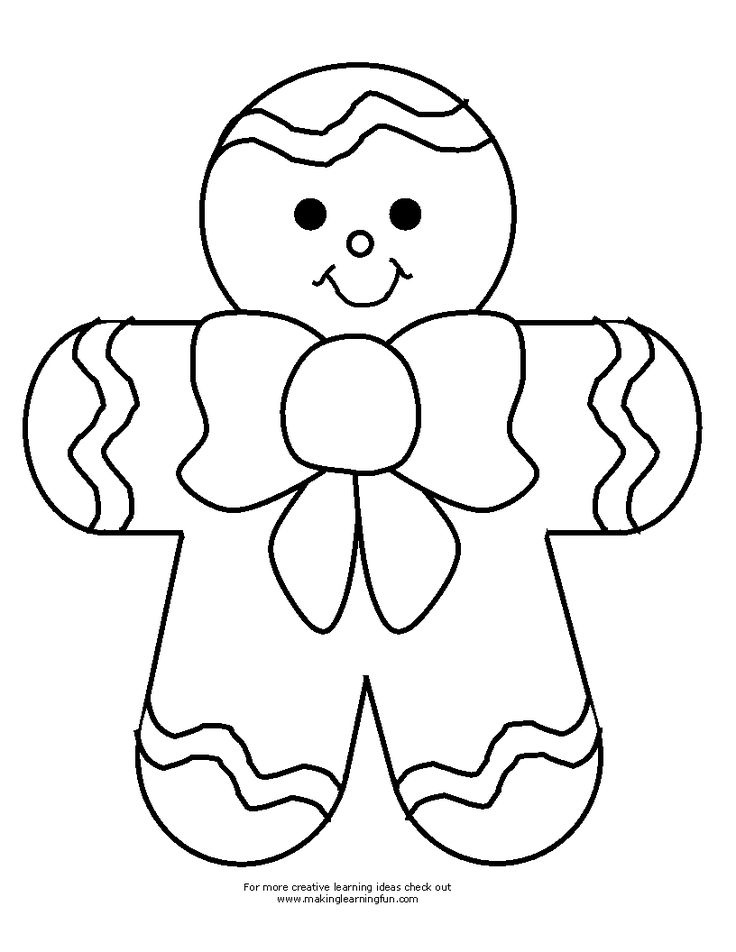 Gingerbread Man Drawing at GetDrawings.com | Free for personal use ...